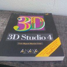 Libros de segunda mano: 3D STUDIO 4 ANAYA LUÍS MIGUEL MARTÍN CRUZ.1995. Lote 49248486