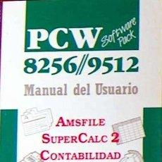 Libros de segunda mano: AMSTRAD PCW 8256 9512 SOFTWARE PACK MANUAL DEL USUARIO 1988 (AMSFILE,SUPERCALC2,CONTA,3D AJEDREZ). Lote 49929178