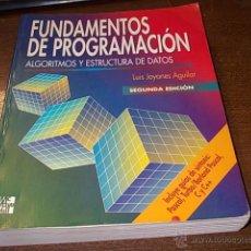 Libros de segunda mano - Fundamentos de programación, Algoritmos y estructura de datos, Luis Joyanes Aguilar - 51146098