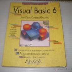 Libros de segunda mano: VISUAL BASIC 6. 1999. Lote 52544057