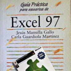 Libros de segunda mano: EXCEL 97 (GUÍA PRÁCTICA - ANAYA). Lote 53045190
