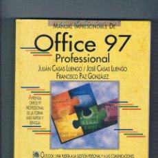 Libros de segunda mano: MANUAL IMPRESCINDIBLE DE OFFICCE 97 PROFESSIONAL ANAYA MULTIMEDIA 1998. Lote 53258422