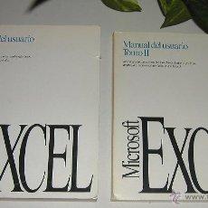 Libros de segunda mano: MANUAL DE USUARIO DE MICROSOFT EXCEL VERSIÓN 4.0 PARA WINDOWS, APPLE O MACINTOSH AÑO 1992 EN ESPAÑOL. Lote 53378913