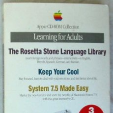 Libros de segunda mano: APPLE CD-ROM COLLECTION - LEARNING FOR ADULTS - APPLE COMPUTER INC. 1994 - VER DESCRIPCIÓN. Lote 56209313