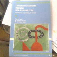 Libros de segunda mano: LAS TELECOMUNICACIONES ESPAÑOLAS ANTE EL MERCADO ÚNICO - RICARDO GAITÁN, Mª ASCENSIÓN ESCARIO Y Mª D. Lote 56429912