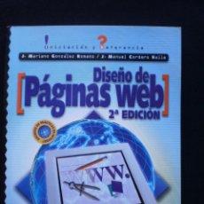 Libros de segunda mano: DISEÑO DE PAGINAS WEB. Lote 56530088