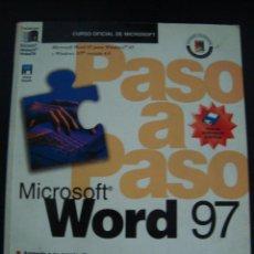 Libros de segunda mano: MICROSOFT WORD 97, PASO A PASO .BUEN ESTADO.INCLUYE EL DISKET.. Lote 56773057