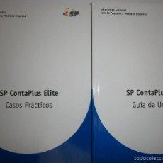 Libros de segunda mano: SP CONTAPLUS ELITE 2005 GUIA DE USUARIO CASOS PRACTICOS CON DISCO. Lote 56939876