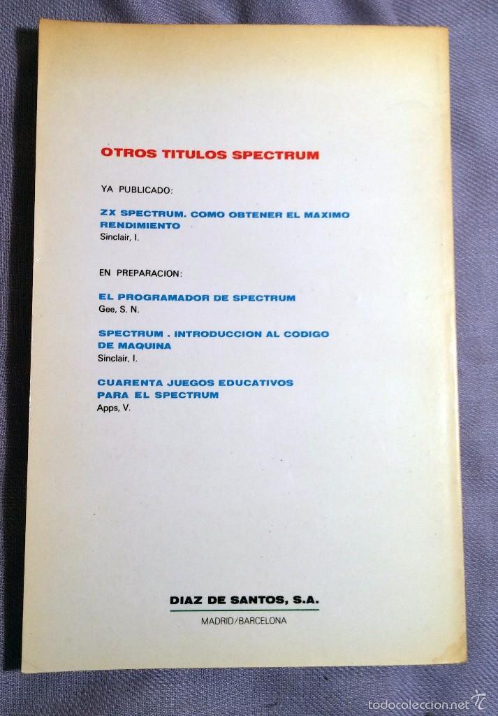Libros de segunda mano: SPECTRUM libro de juegos Ed. DIAZ DE SANTOS 1984 - Foto 2 - 57773201