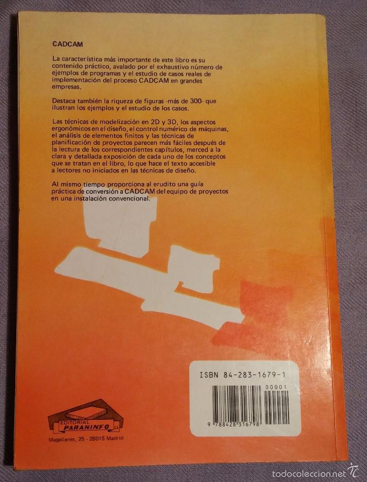 Libros de segunda mano: CADCAM por BARRY HAWKES , EDICIONES PARANINFO, 1989 - Foto 2 - 57793223