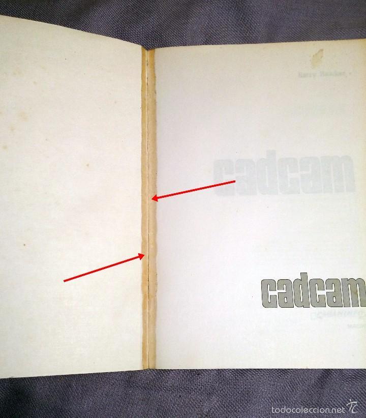 Libros de segunda mano: CADCAM por BARRY HAWKES , EDICIONES PARANINFO, 1989 - Foto 3 - 57793223