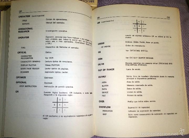 Libros de segunda mano: DICCIONARIO INFORMATICA INGLES-ESPAÑOL ED.PARANINFO 1984 - Foto 4 - 57793458