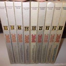 Libros de segunda mano: BASIC ENCICLOPEDIA DE INFORMÁTICA MINIORDENADORES Y ORDENADORES PERSONALES. 9 TOMOS, ED. FORUM 1.983. Lote 57800019