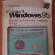 Libros de segunda mano: MANUAL MICROSOFT WINDOWS 95. Lote 57895594
