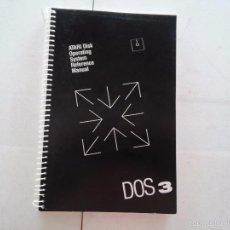 Libros de segunda mano: ATARI - LIBRO DISK OPERATING SYSTEM REFERENCE MANUAL - DOS 3 - CON 4 DISK DE JUEGOS - VER FOTOS. Lote 58018670
