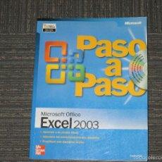 Libros de segunda mano: EXCEL 2003 - MICROSOFT OFFICE PASO A PASO - INCLUYE CD MULTIMEDIA - 410 PAG - BOX 4L -. Lote 58240969
