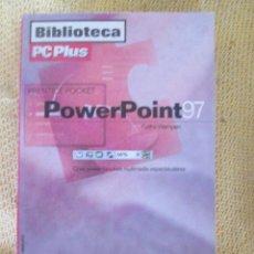 Libros de segunda mano: MANUAL BOLSILLO POWERPOINT 97- BIBLIOTECA PCPLUS. Lote 58337060