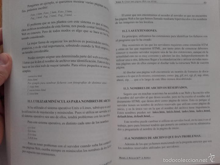 Libros de segunda mano: INTRODUCCIÓN A LAS TÉCNICAS DE WEBMASTER - MANUEL JOSÉ AGUILAR GALLEGO - ED. TREMSA - 2001 - Foto 3 - 58381071