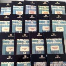 Libros de segunda mano: PROGRAMACIÓN DE ORDENADORES - BASIC C COBOL LOGO RPG MS-DOS UNIX - GRUPO ECC - LOTE DE 18 LIBROS. Lote 58385418