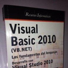 Libros de segunda mano: VISUAL BASIC 2010. Lote 58648847
