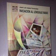 Libros de segunda mano: INICIACIÓN AL LENGUAJE BASIC. Lote 58648954