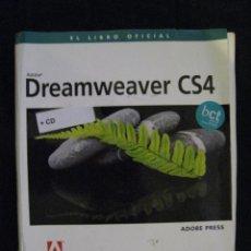 Libros de segunda mano: DREAMWEAVER CS4 - EL LIBRO OFICIAL - ADOBE PRESS - EDICIONES ANAYA MULTIMEDIA - INCLUYE CD-ROM.. Lote 58707391