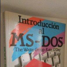 Libros de segunda mano: INTRODUCCIÓN AL MS-DOS . Lote 59994907
