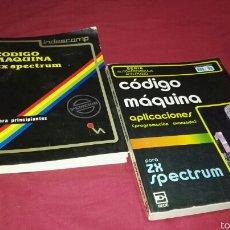Libros de segunda mano: 2 LIBROS CODIGO MAQUINA SPECTRUM ZX . Lote 60890382