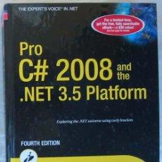 Libros de segunda mano: PRO C# 2008 AND THE .NET 3.5 PLATFORM - ANDREW TROELSEN - APRESS 2009 - 1370 PÁGINAS - VER INDICE. Lote 60916043