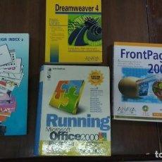 Libros de segunda mano: RUNNING MICROSOFT OFFICE 2000 PREMIUM,FRONTPAGE 2000,DREAMWEAVER 4 Y WEB DESIGN INDEX 2. Lote 61669120