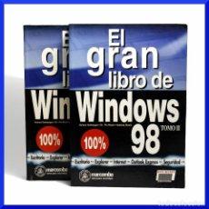 Libros de segunda mano: EL GRAN LIBRO DE WINDOWS 98 / H. VONHOEGEN - DR. PIA MASLO - A. MASLO / MARCOMBO 1998 / VER FOTOS. Lote 33501227