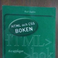 Libros de segunda mano: HTML OCH CSS BOKEN ROLF STAFLIN 2010. Lote 62202412