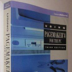 Libros de segunda mano: USING PAGEMAKER 4 FOR THE PC - MARTIN MATTHEWS - EN INGLES *. Lote 62252152