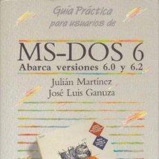 Libros de segunda mano: MS-DOS 6. Lote 62378228
