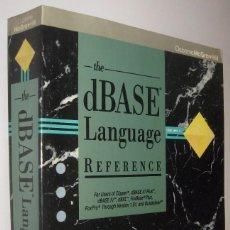 Libros de segunda mano: THE DBASE LANGUAGE REFERENCE - EDWARD JONES - EN INGLES *. Lote 63795655