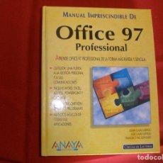 Libros de segunda mano: MANUAL IMPRESCINDIBLE DE OFFICE 97 PROFESIONAL - CIRCULO DE LECTORES. Lote 64450411