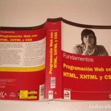 Libros de segunda mano: JON DUCKETT. PROGRAMACIÓN WEB CON HTML, XHTML Y CSS. RM77359. . Lote 65919422