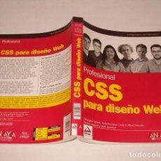 Libros de segunda mano: VV.AA. PROFESIONAL CSS PARA DISEÑO WEB. RMT77462. . Lote 66832374