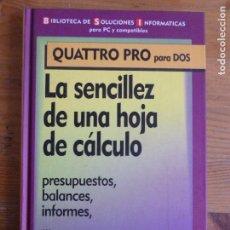 Libros de segunda mano: LA SENCILLEZ DE UNA HOJA DE CÁLCULO. PRESUPUESTOS, BALANCES, INFROMES. F&G EDITORES. 1994 142PP. Lote 67719521