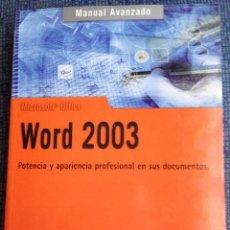 Libros de segunda mano: WORD 2003 - ANAYA CON CD ROM. Lote 68359865