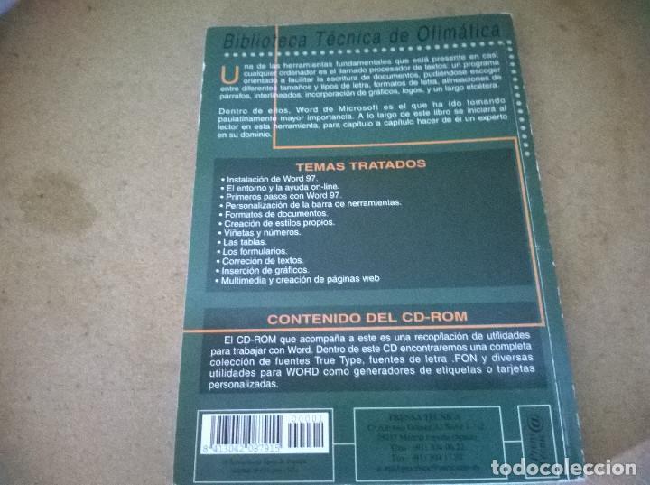 Libros de segunda mano: MICROSOFT WORD 97/98 - Foto 2 - 68536157