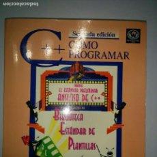 Libros de segunda mano: CÓMO PROGRAMAR C ++ BIBLIOTECA ESTÁNDAR DE PLANTILLAS 1999 DEITEL Y DEITEL 2ª ED. PRENTICE HALL . Lote 71821415