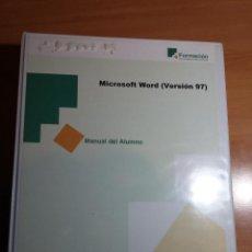 Libros de segunda mano: LIBRO MANUAL DEL ALUMNO WORD 97 + CARPETA ANILLAS. Lote 71949243