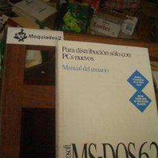 Livres d'occasion: MS-DOS 6.2, MANUAL DE USUARIO (LIBRO OFICIAL DE MICROSOFT, EL QUE ACOMPAÑABA AL SOFTWARE). Lote 135895875