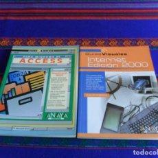 Libros de segunda mano: GUÍAS VISUALES INTERNET EDICIÓN 2000 Y WINDOWS 95 ACCESS. ANAYA. REGALO GUÍA PRÁCTICA LENGUAJE C. BE. Lote 73652103