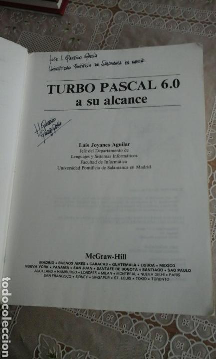 Libros de segunda mano: Turbo Pascal 6.0.Luis Joyanes Aguilar - Foto 2 - 73657362