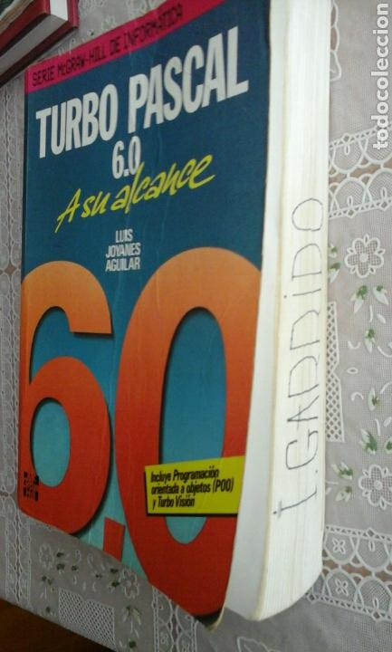 Libros de segunda mano: Turbo Pascal 6.0.Luis Joyanes Aguilar - Foto 4 - 73657362