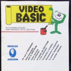 Libros de segunda mano: VIDEO BASIC. Nº 1. AÑO: 1985. SPECTRUM. BUEN ESTADO. . Lote 74471259