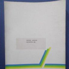 Libros de segunda mano: MANUAL SERVICIO TÉCNICO DE MAQUINA DE ESCRIBIR BRUNSVIGA MD. Lote 75432123