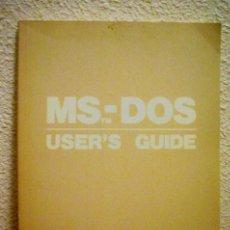 Libros de segunda mano: MS-DOS USER´S GUIDE (IDIOMA INGLES). Lote 75781827